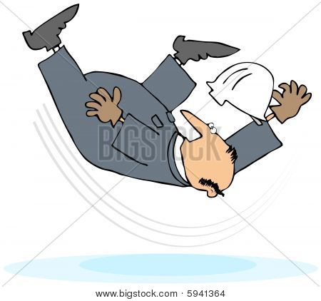 Worker Taking A Slip And Fall