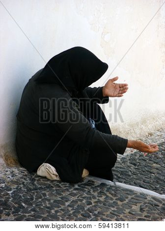 Begar Woman In Santorini