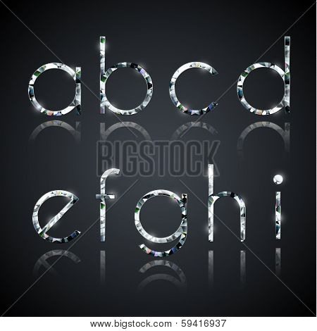 Diamond alphabet letters - eps10