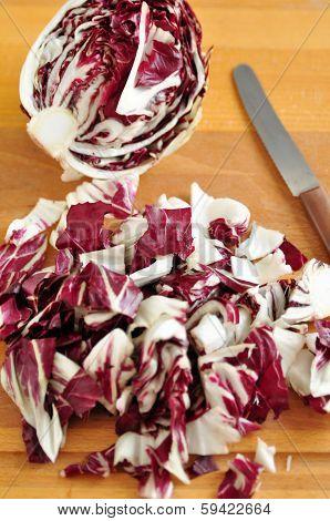 Red Cabbage Radicchio Rosso Head