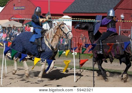 Jousting on Horseback