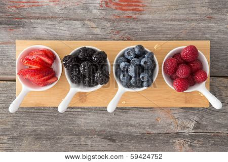 Taster Dishes Of Assorted Autumn Berries