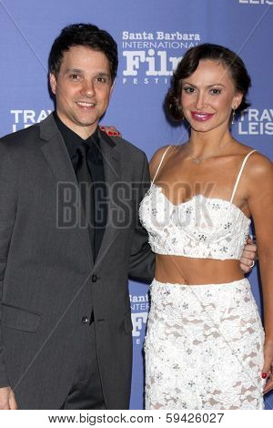 SANTA BARBARA - FEB 4:  Ralph Macchio, Karina Smirnoff at the Santa Barbara International Film Festival Virtuosos Awards at Arlington Theater on February 4, 2014 in Santa Barbara, CA