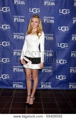 SANTA BARBARA - FEB 1:  Peyton List at the Santa Barbara International Film Festival Honors Cate Blanchett as Performer of the Year at Arlington Theater on February 1, 2014 in Santa Barbara, CA