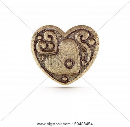 Bronze Heart Symbol
