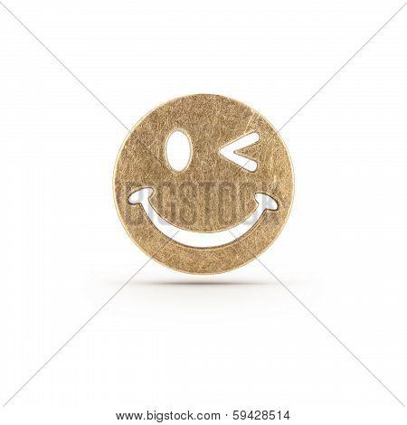 Bronze Smiley Symbol