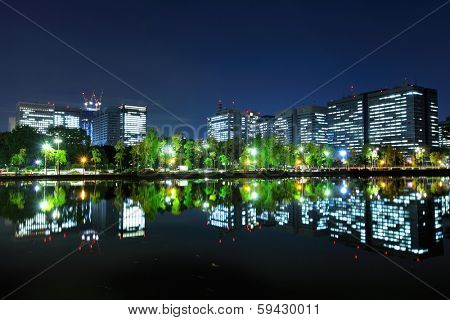 Tokyo financial district
