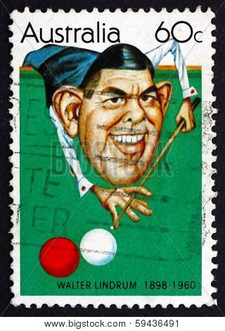 Postage Stamp Australia 1981 Walter Lindrum, Billiards Player