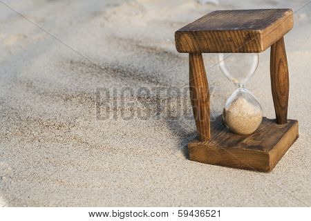 Hourglass In Sand