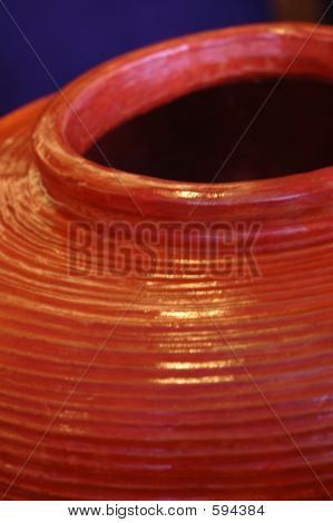 Closeup: Abstract Ceramic Pottery