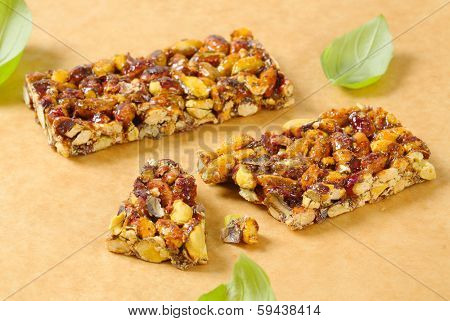 greek honey bar with different kinds of nuts