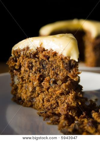 Closeup Of A Piece Of Carrot Cake