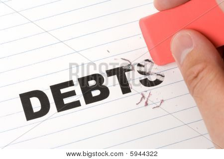 Eraser And Word Debt