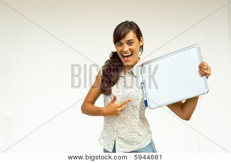 Woman With Markerboard