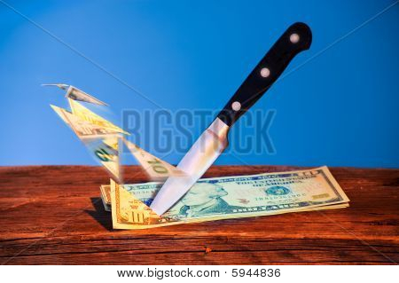 Knife Cutting  Dollars