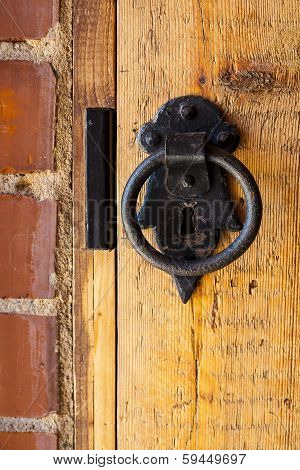 Old metal door knocker.