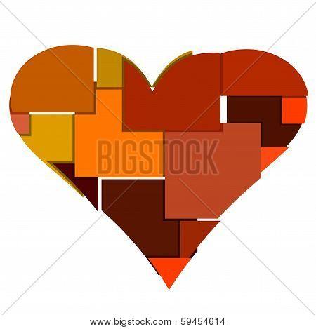 Big Heart Made Of Blocks