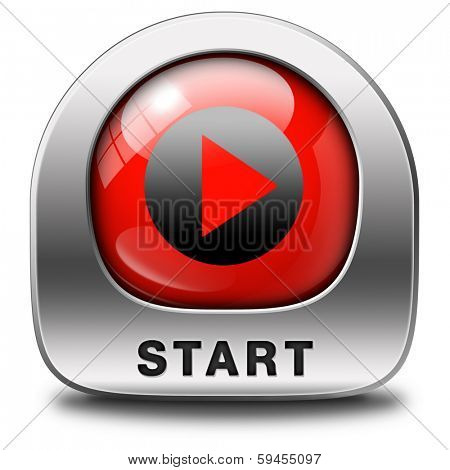 start or begin the game movie or video new beginning symbol