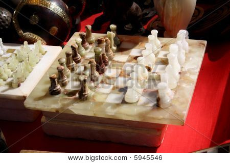 Antique Marble Chess
