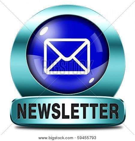 Latest newsletter icon with hot breaking news. Button or sign with new items.
