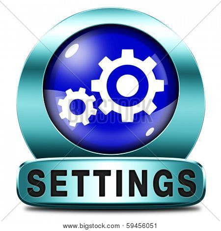 settings Cogwheel gear mechanism change or reset button default setting icon