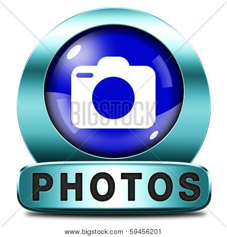 photos picture and image gallery button or icon