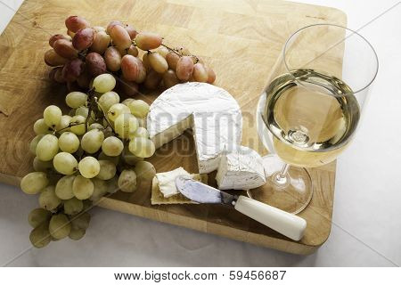 Grapes Wine and Cheese
