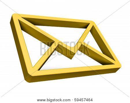 Gold E-mail Symbo