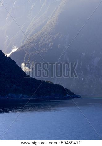Fjord Of Milford Sound In New Zealand