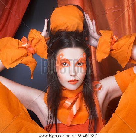 Orange girl.