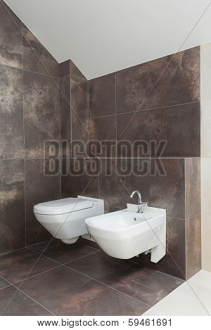 New Grey Toilet Interior