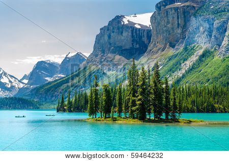 Majestic mountain lake in Canada. poster