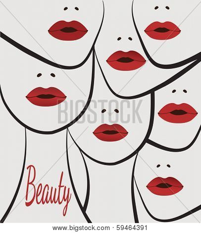 beauty faces women lips