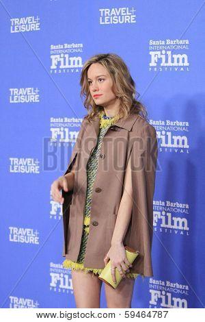 SANTA BARBARA - FEB 4: Brie Larson at the 29th Santa Barbara International Film Festival - Virtuosos Award Ceremony held at Arlington Theatre on February 4, 2014 in Santa Barbara, CA