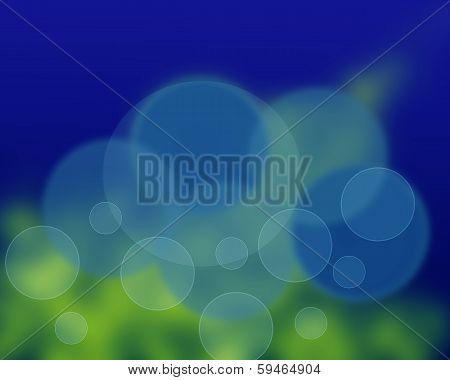Abstract Blur Background Blue Green. Bokeh Effects