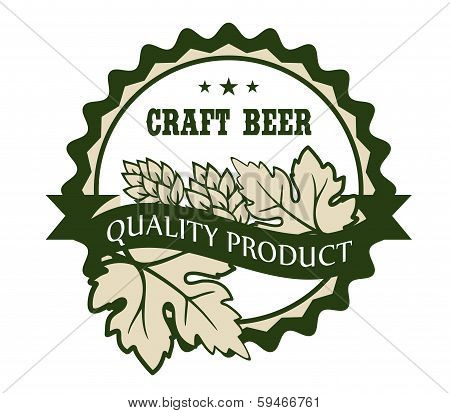 Craft beer design label for a Premium Product