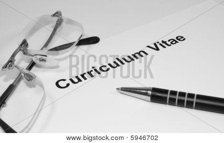 Curriculum Vitae In Black And White
