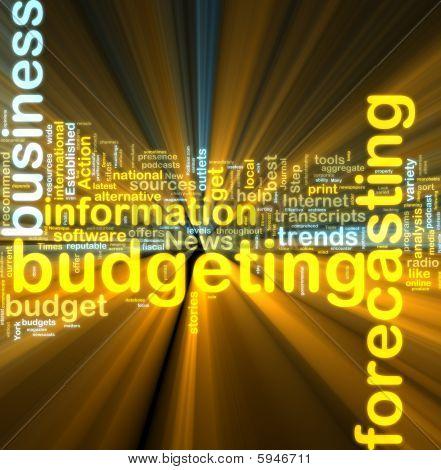 Budgeting Wordcloud Glowing