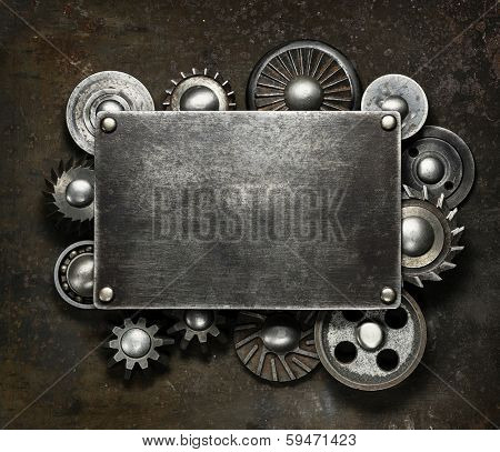 Industrial dark metal background