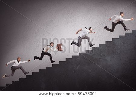 Businesspeople Climbing Stairs