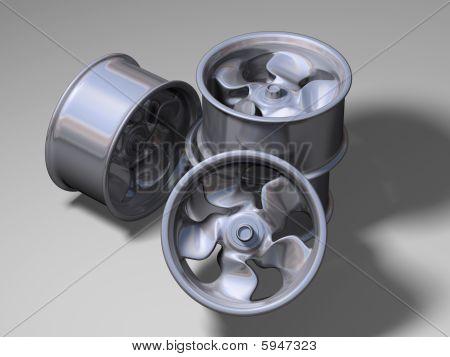 Four aluminium rims