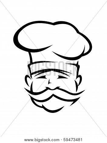 Chef Or Cook With A Handlebar Moustache