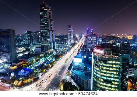 Gangnam district in Seoul