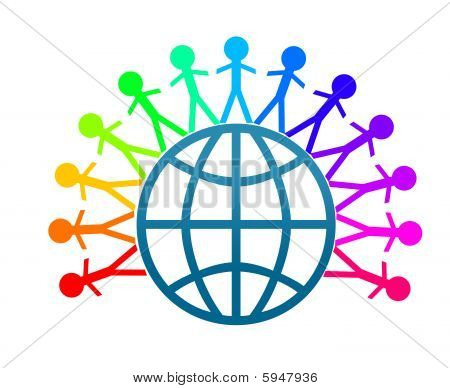 Colorful World Peace Clip Art