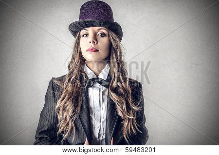 female magician