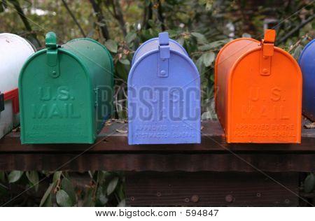 Trio de caixa de correio