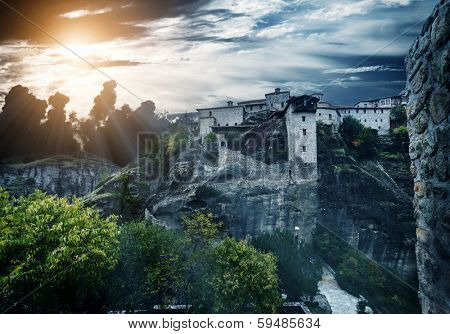 Monareties on Meteora in Greece