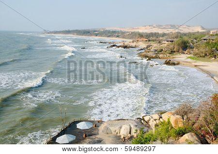 Sea Shore In Spring In Vietnam