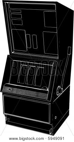 Jackpot Casino Slot Machine Vector
