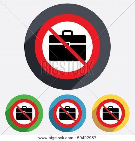 Case sign icon. No Briefcase button.